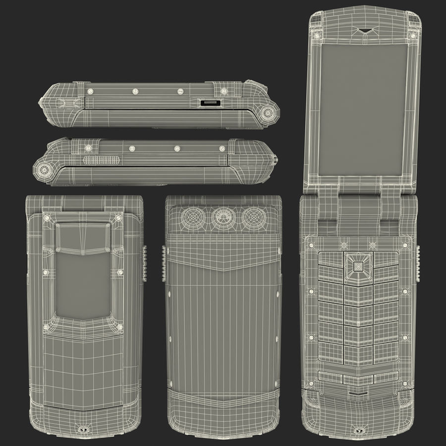 Vertu Constellation Ayxta royalty-free 3d model - Preview no. 23
