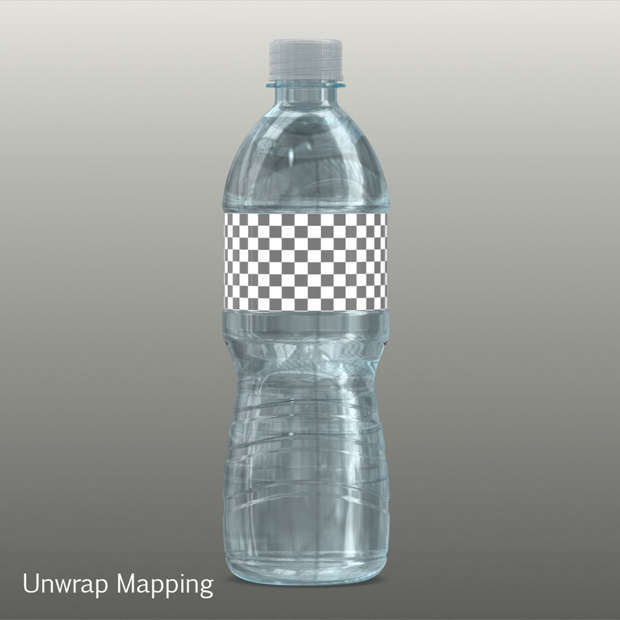 Water Bottle royalty-free 3d model - Preview no. 6