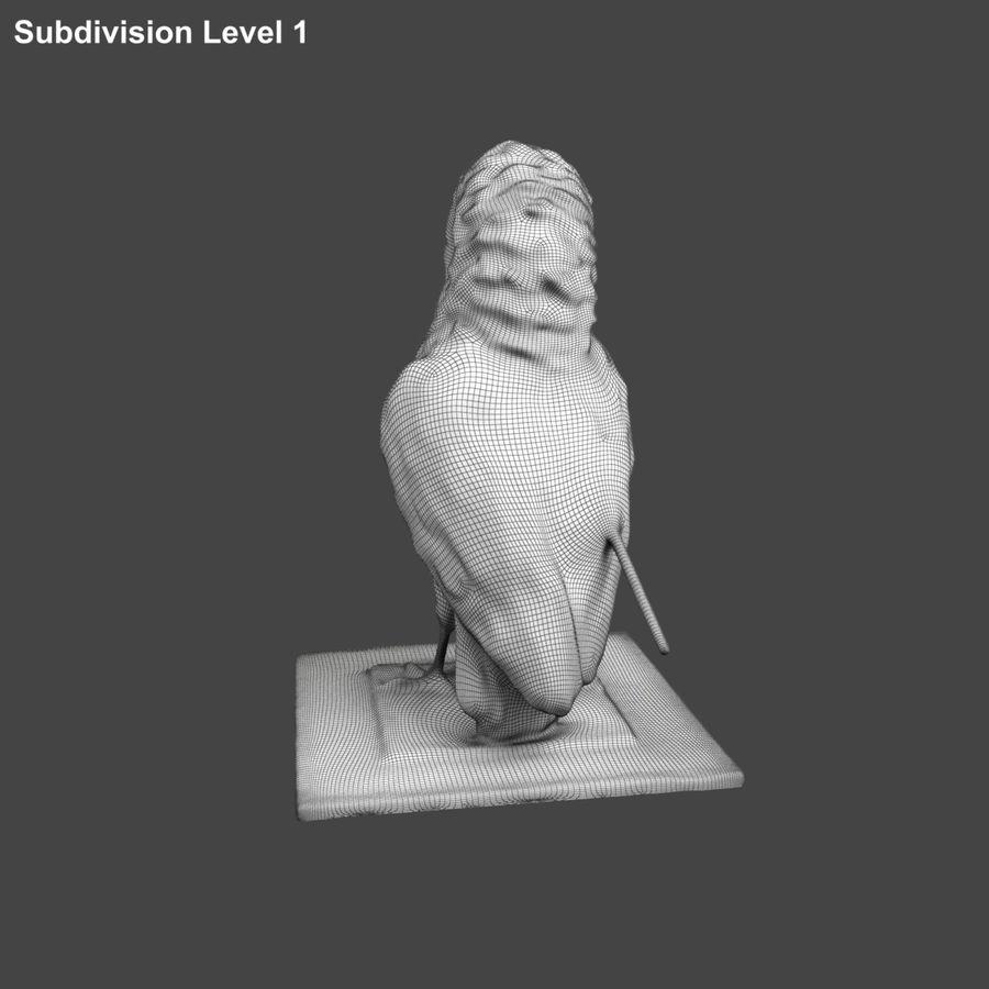 Raven royalty-free 3d model - Preview no. 11