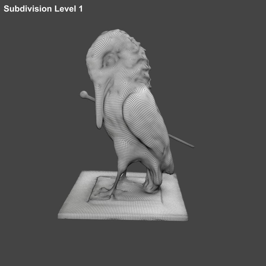 Raven royalty-free 3d model - Preview no. 10