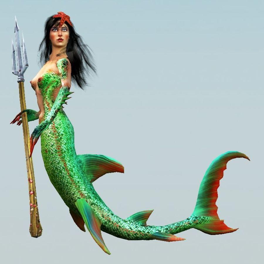 mermaid royalty-free 3d model - Preview no. 4