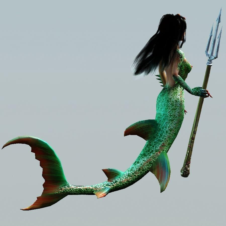 mermaid royalty-free 3d model - Preview no. 6