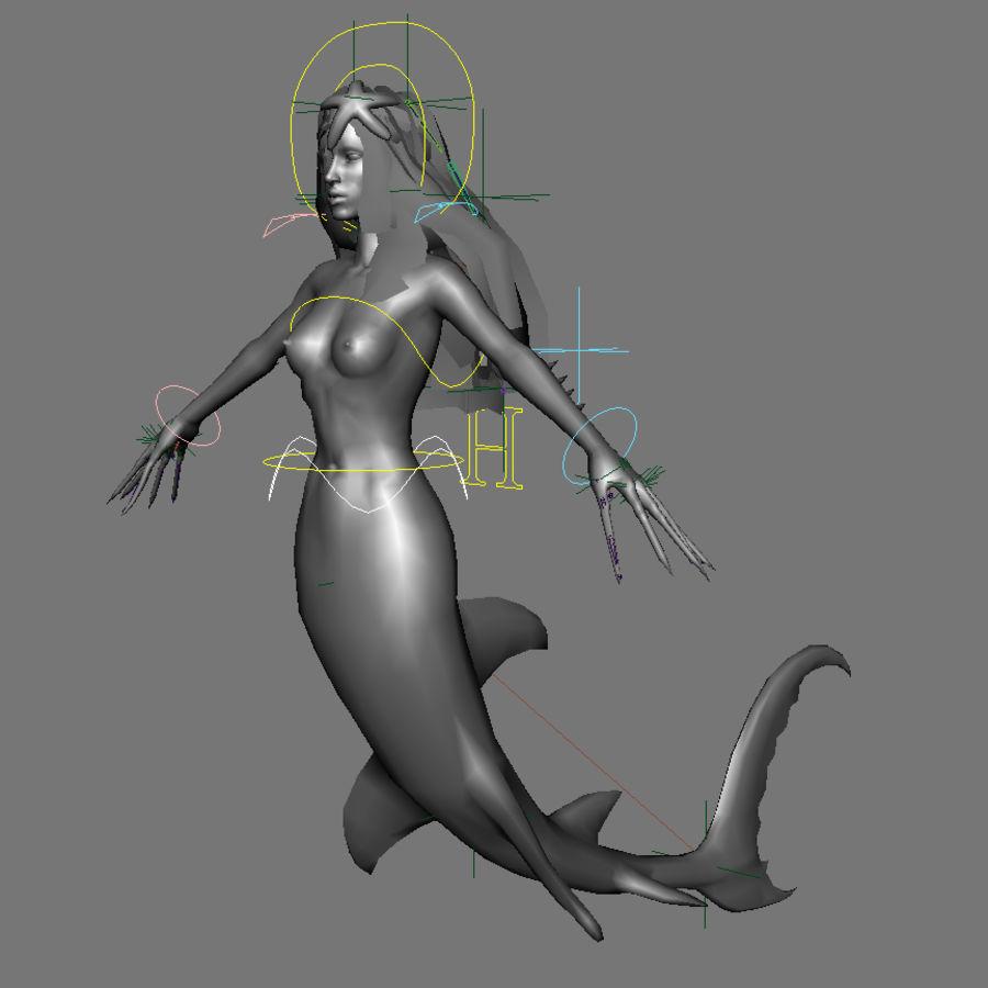 mermaid royalty-free 3d model - Preview no. 9