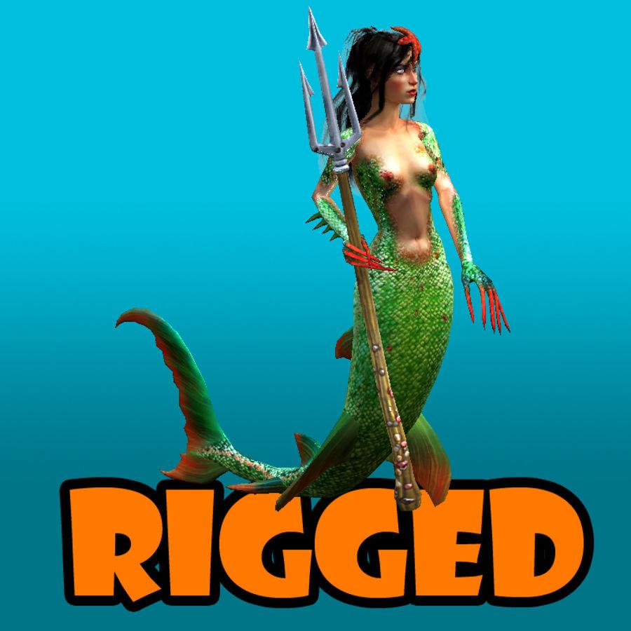 mermaid royalty-free 3d model - Preview no. 1