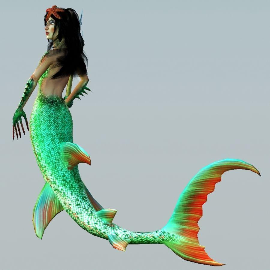 mermaid royalty-free 3d model - Preview no. 3