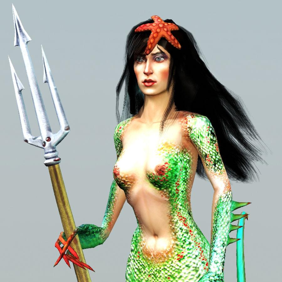 mermaid royalty-free 3d model - Preview no. 5