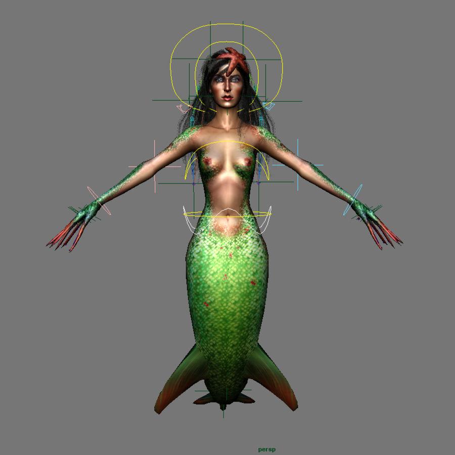mermaid royalty-free 3d model - Preview no. 11