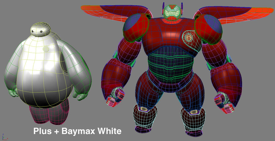 Baymax - Big Hero 6 royalty-free 3d model - Preview no. 26