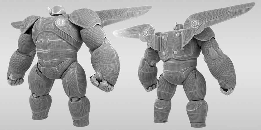 Baymax - Big Hero 6 royalty-free 3d model - Preview no. 8
