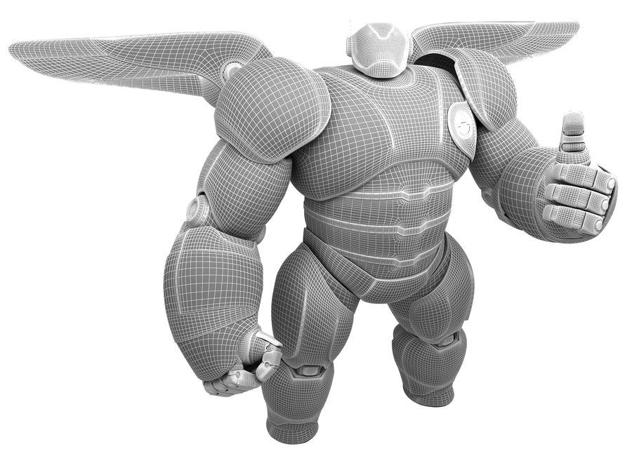 Baymax - Big Hero 6 royalty-free 3d model - Preview no. 19