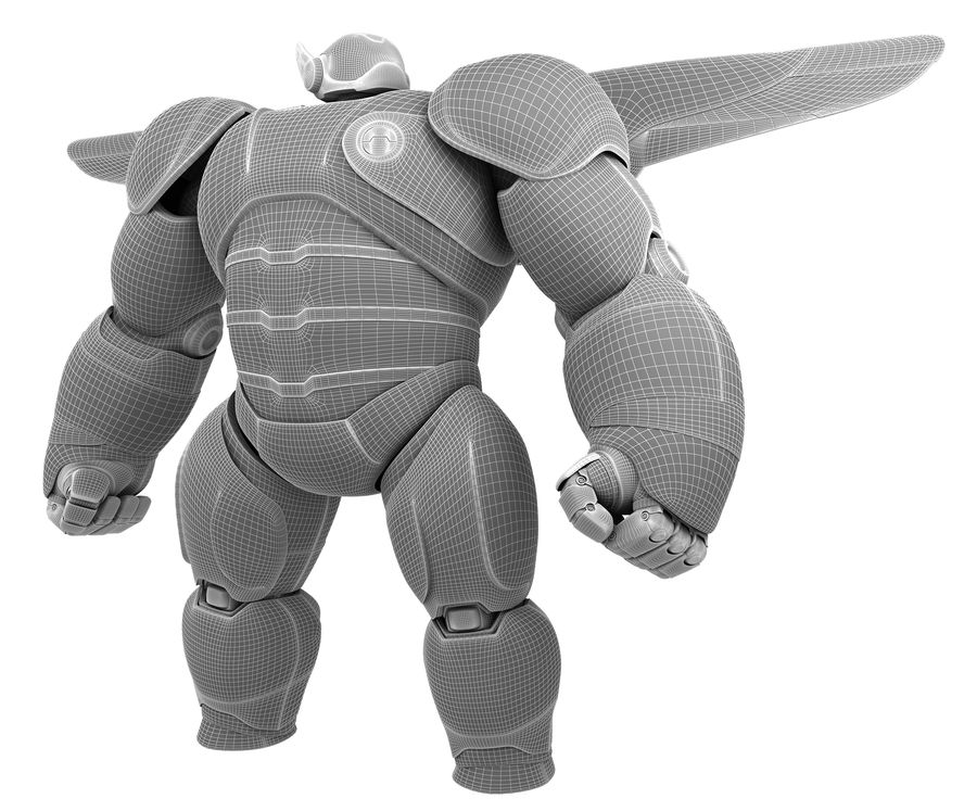 Baymax - Big Hero 6 royalty-free 3d model - Preview no. 3