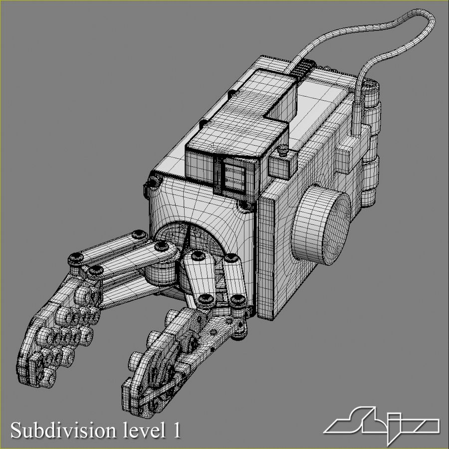 Robot Gripper 6 royalty-free 3d model - Preview no. 5