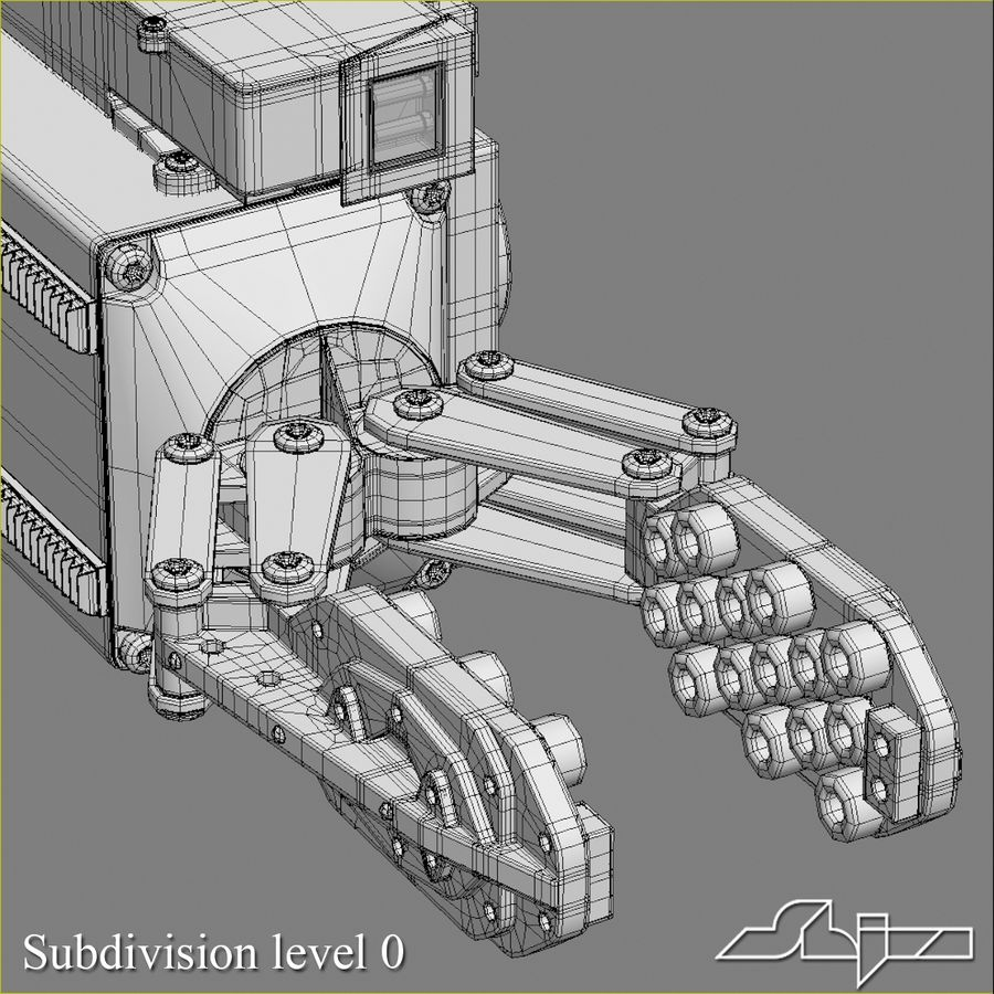 Robot Gripper 6 royalty-free 3d model - Preview no. 7