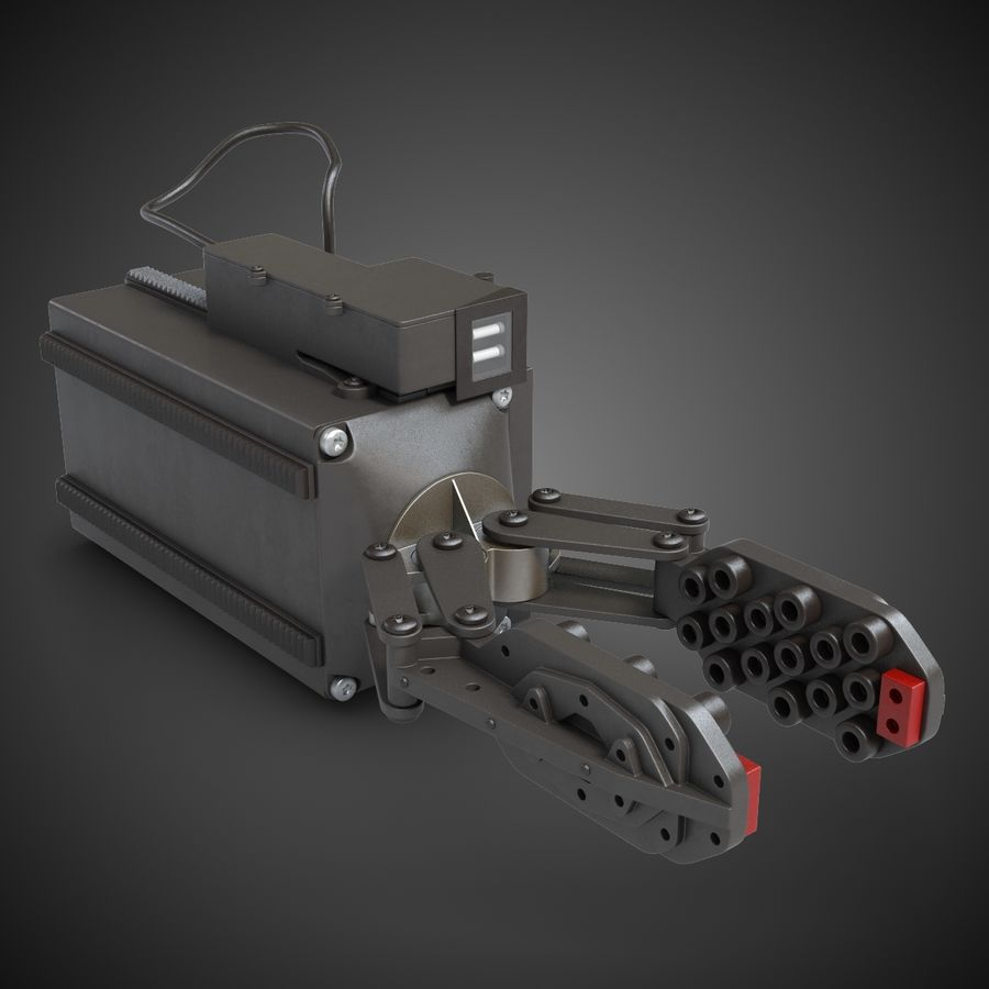 Robot Gripper 6 royalty-free 3d model - Preview no. 2