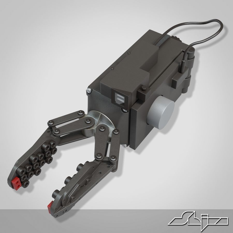 Robot Gripper 6 royalty-free 3d model - Preview no. 3