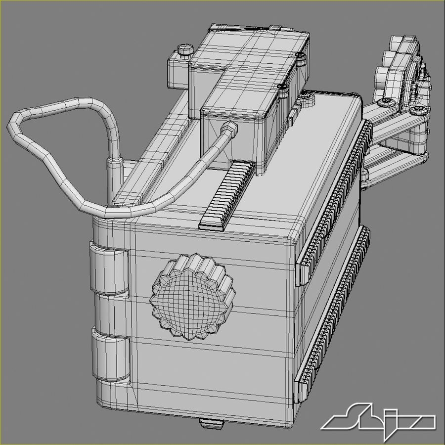 Robot Gripper 6 royalty-free 3d model - Preview no. 9