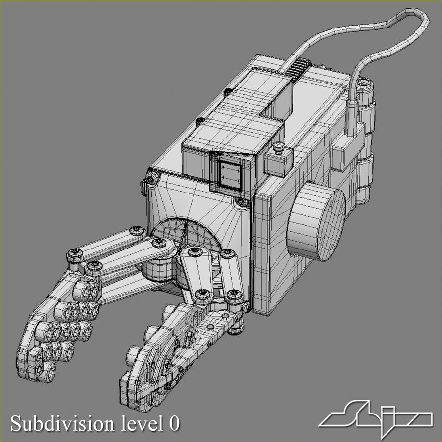 Robot Gripper 6 royalty-free 3d model - Preview no. 6