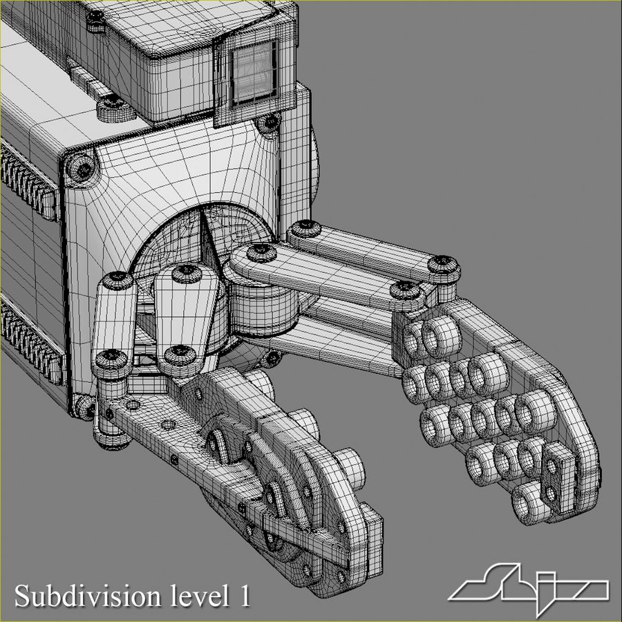 Robot Gripper 6 royalty-free 3d model - Preview no. 8