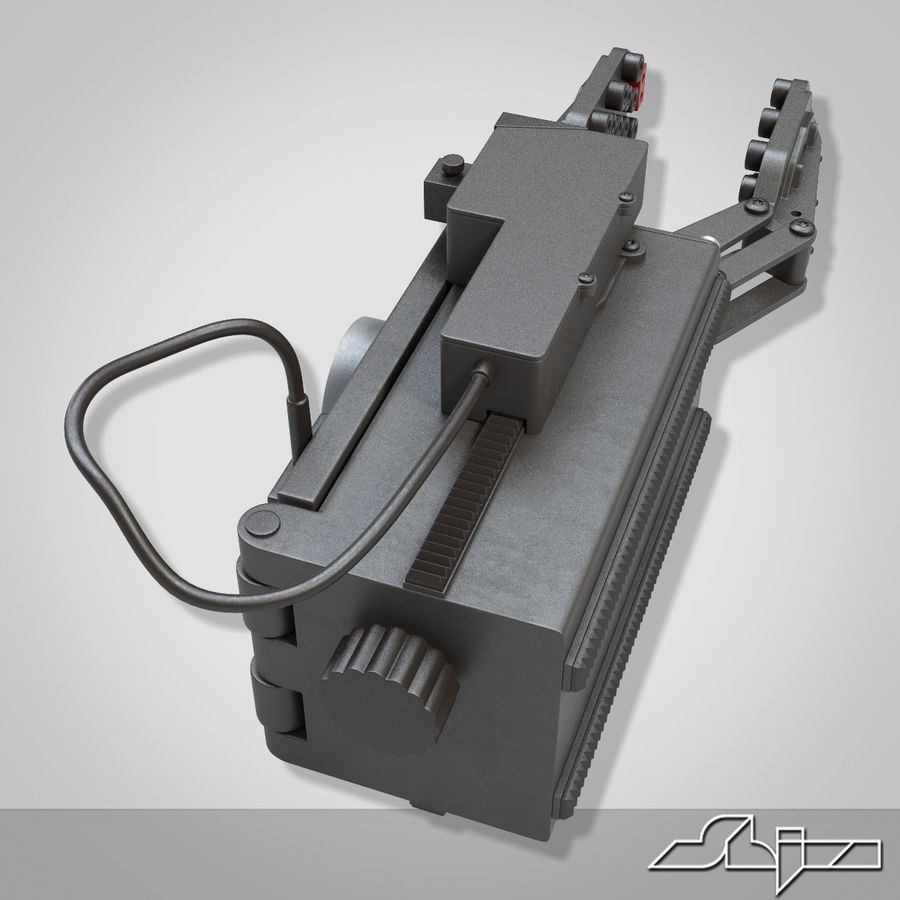 Robot Gripper 6 royalty-free 3d model - Preview no. 4