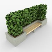 Concrete Bench 3d model