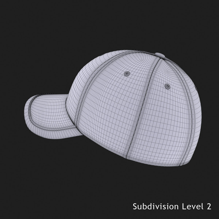 39Thirty Football Cap - Purple royalty-free 3d model - Preview no. 11