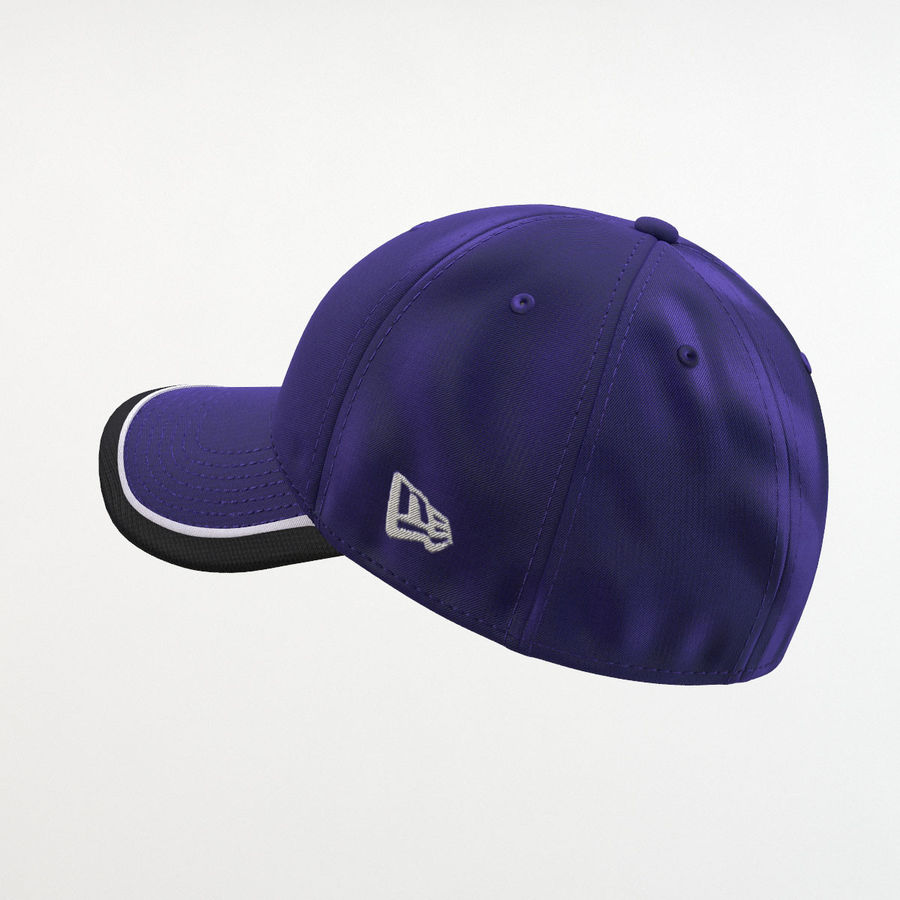 39Thirty Football Cap - Purple royalty-free 3d model - Preview no. 3