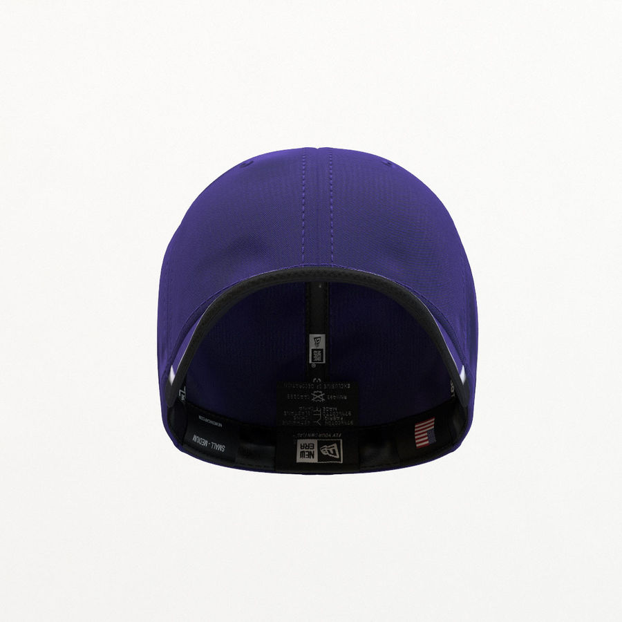 39Thirty Football Cap - Purple royalty-free 3d model - Preview no. 7