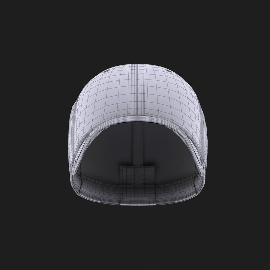 39Thirty Football Cap - Purple royalty-free 3d model - Preview no. 17