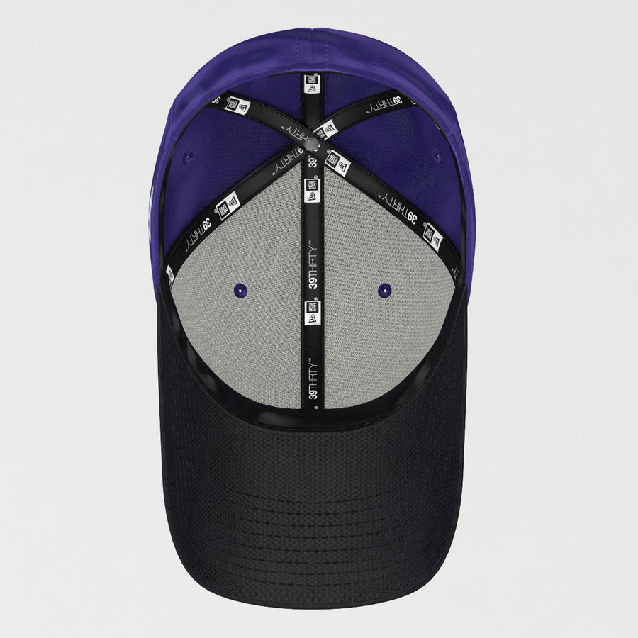 39Thirty Football Cap - Purple royalty-free 3d model - Preview no. 5