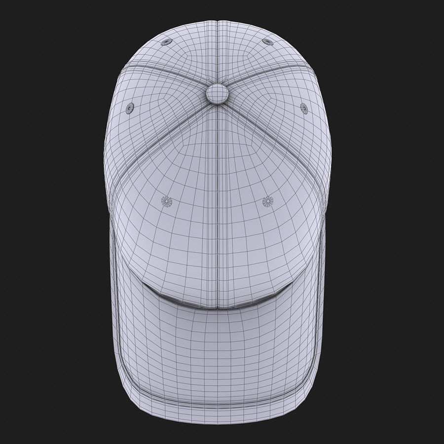 39Thirty Football Cap - Purple royalty-free 3d model - Preview no. 14