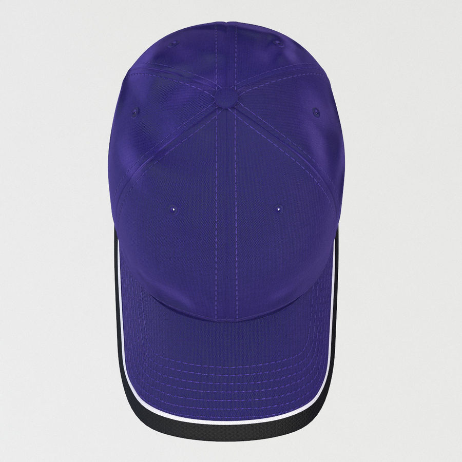 39Thirty Football Cap - Purple royalty-free 3d model - Preview no. 4