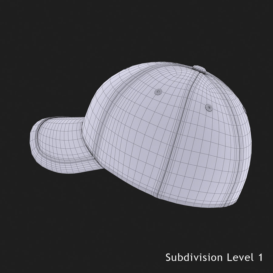 39Thirty Football Cap - Purple royalty-free 3d model - Preview no. 12
