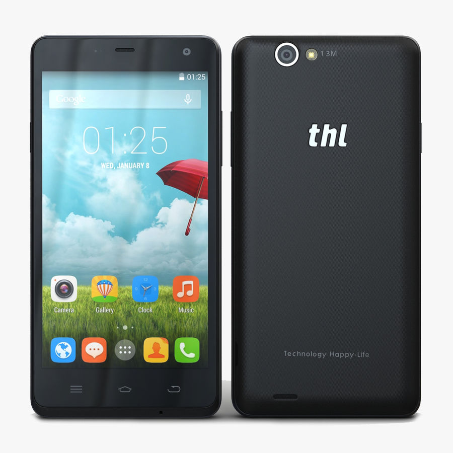 THL 5000 Smart Phone royalty-free 3d model - Preview no. 1