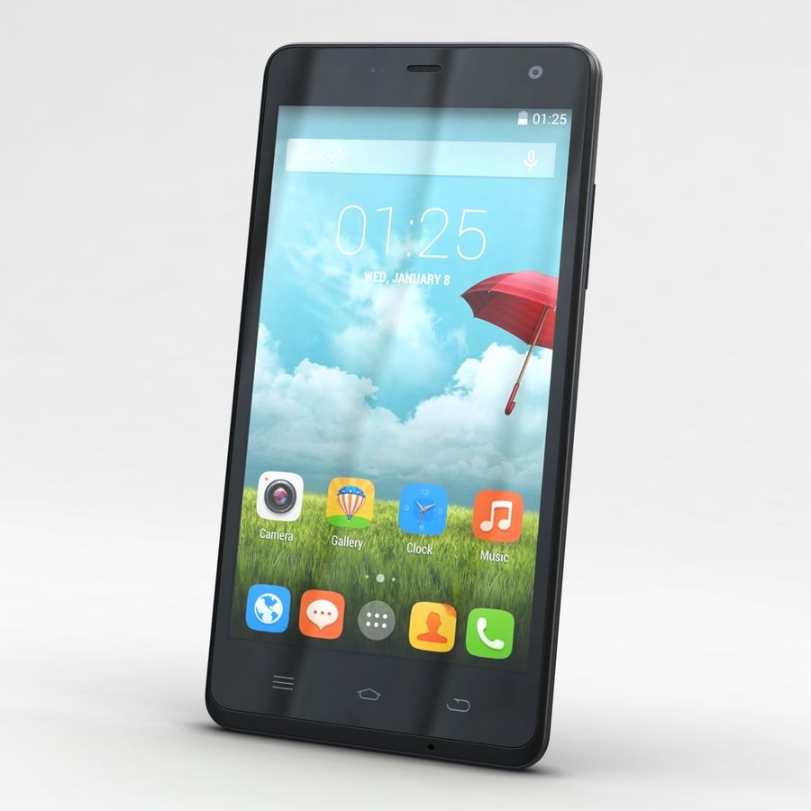 THL 5000 Smart Phone royalty-free 3d model - Preview no. 3