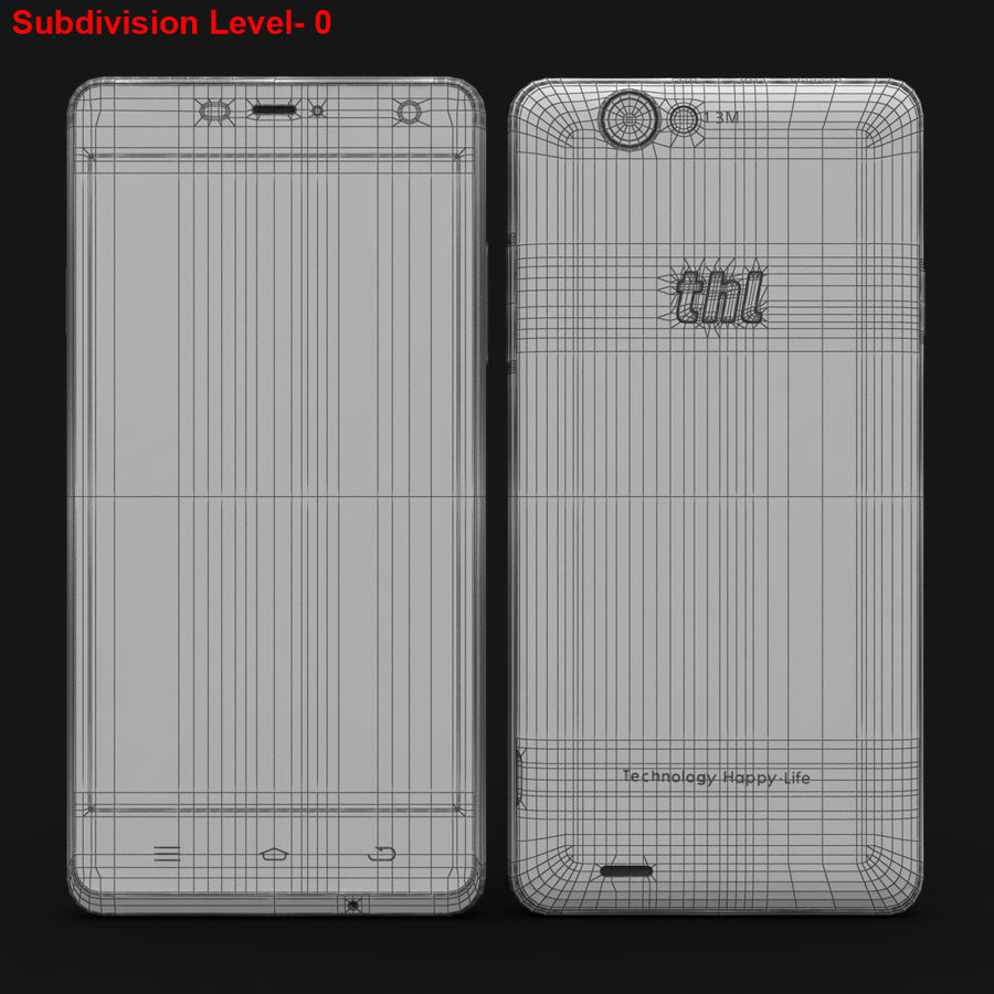 THL 5000 Smart Phone royalty-free 3d model - Preview no. 29