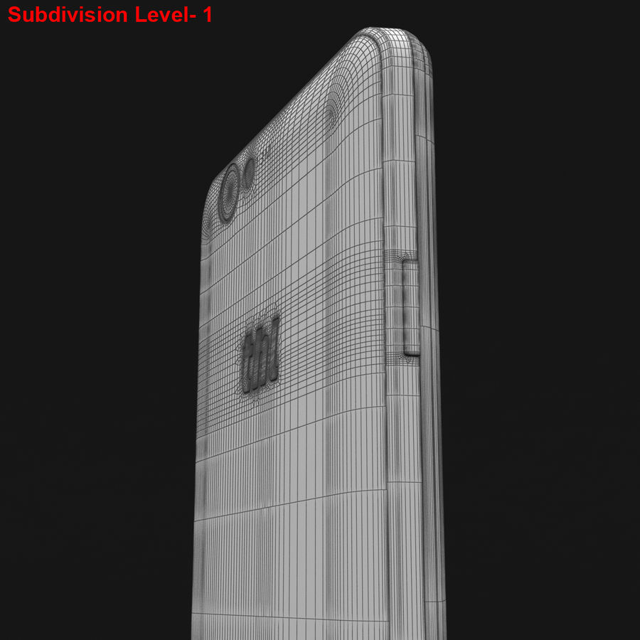 THL 5000 Smart Phone royalty-free 3d model - Preview no. 32
