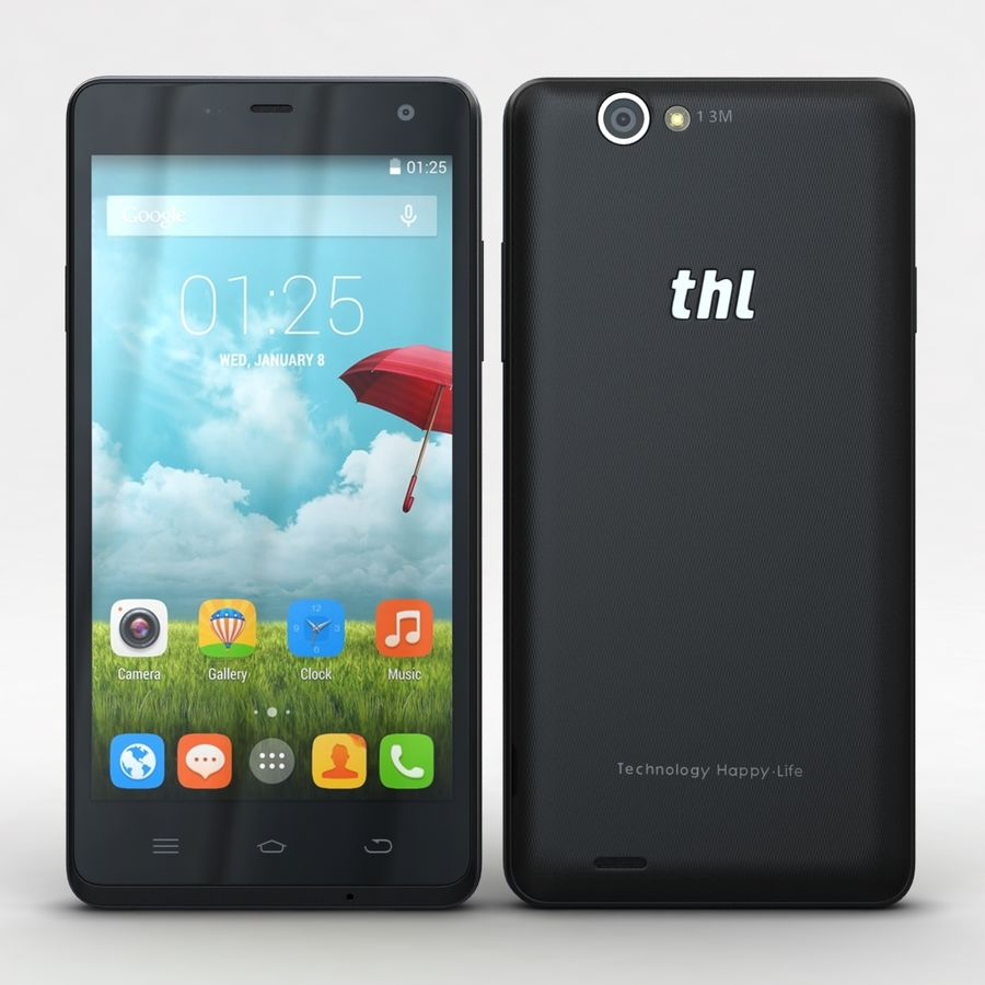 THL 5000 Smart Phone royalty-free 3d model - Preview no. 2