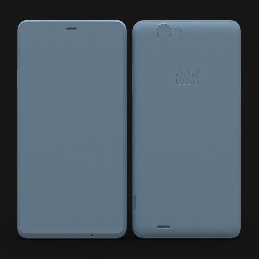 THL 5000 Smart Phone royalty-free 3d model - Preview no. 27