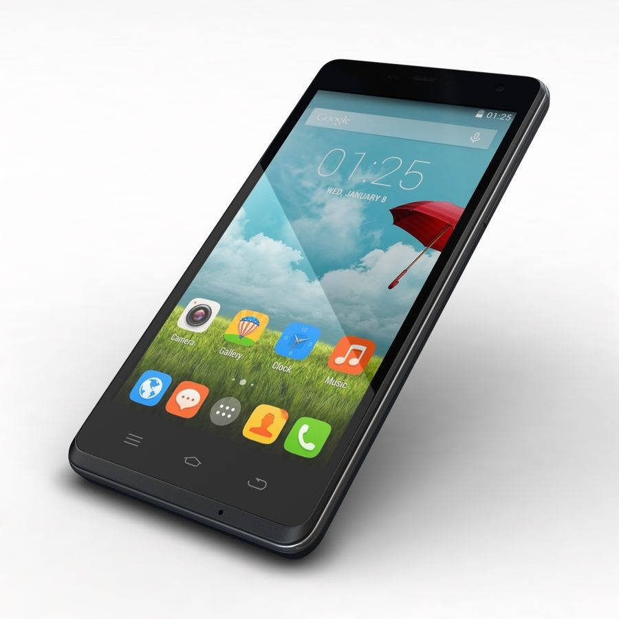 THL 5000 Smart Phone royalty-free 3d model - Preview no. 22