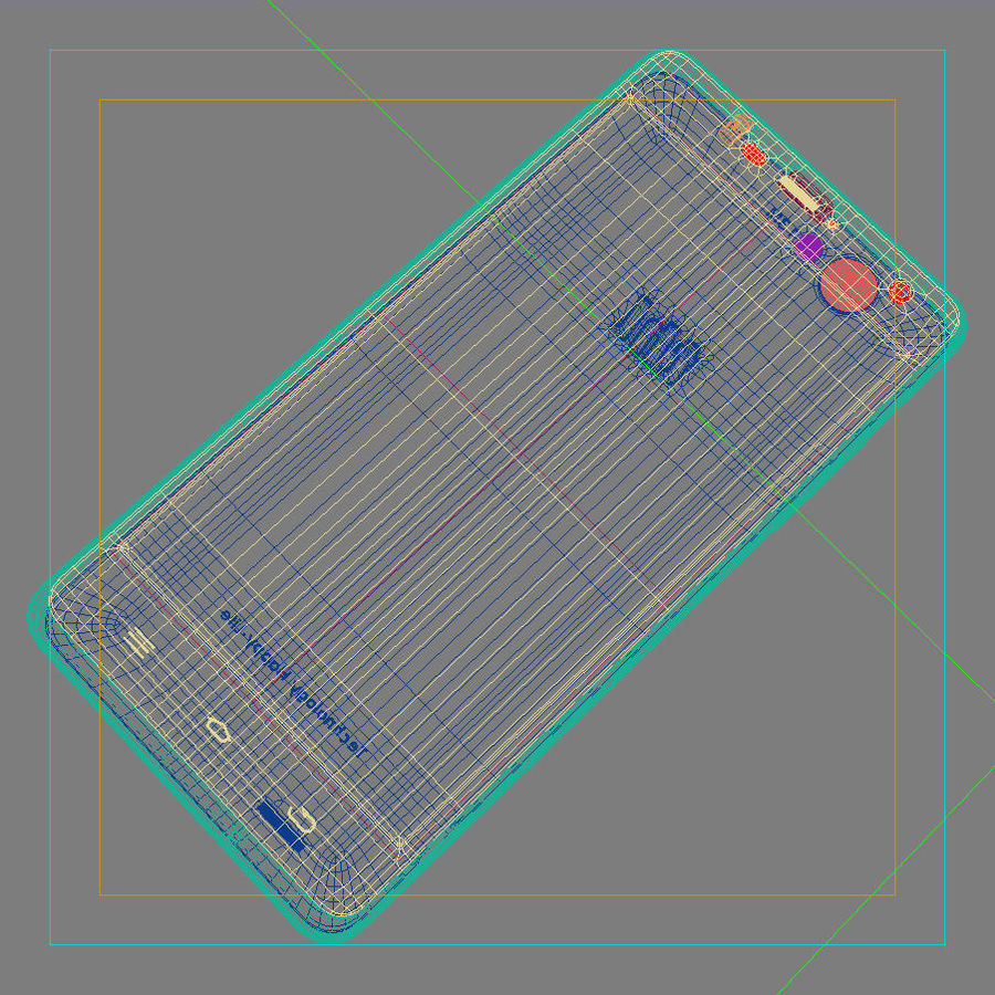 THL 5000 Smart Phone royalty-free 3d model - Preview no. 42