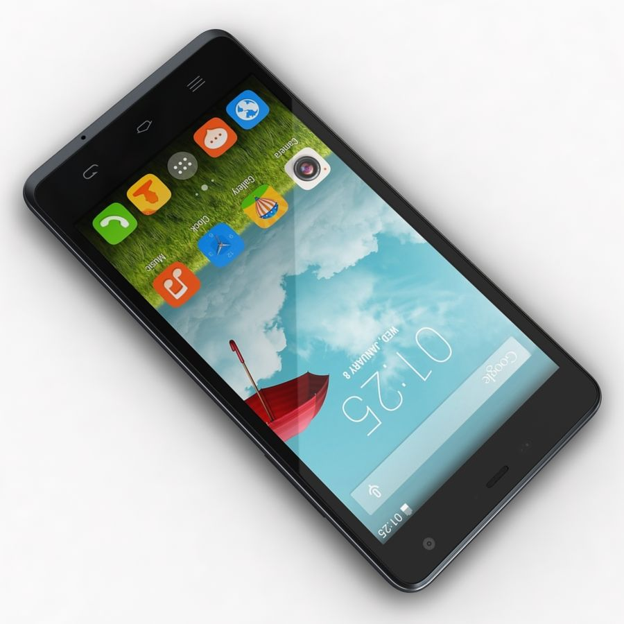 THL 5000 Smart Phone royalty-free 3d model - Preview no. 8