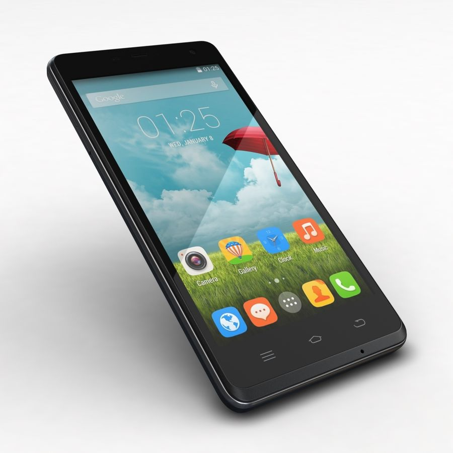 THL 5000 Smart Phone royalty-free 3d model - Preview no. 21