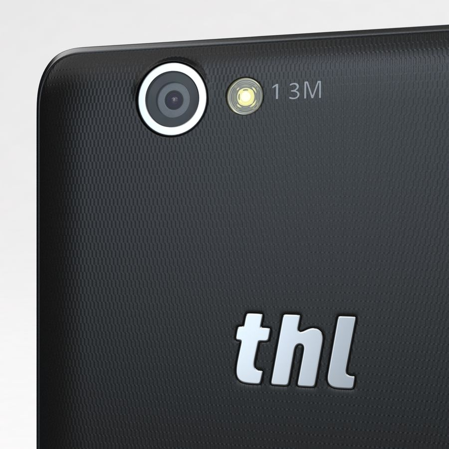 THL 5000 Smart Phone royalty-free 3d model - Preview no. 15
