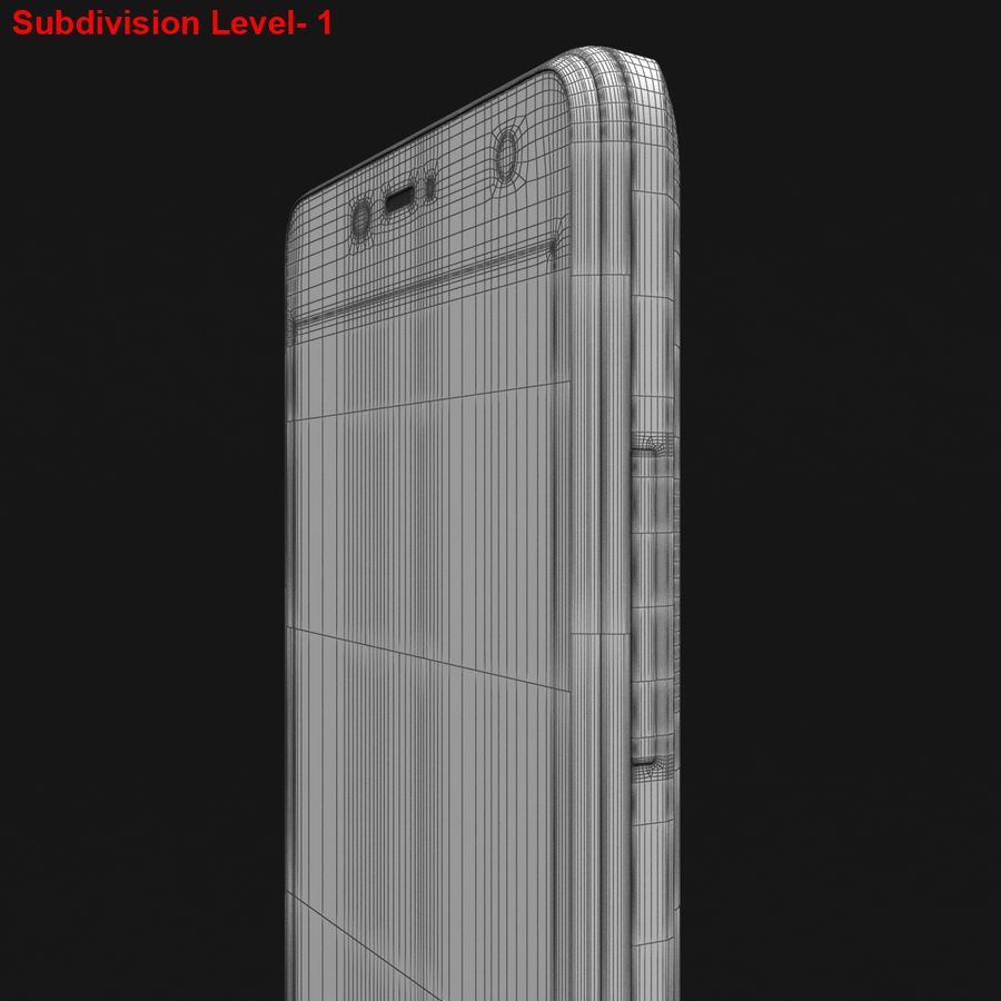THL 5000 Smart Phone royalty-free 3d model - Preview no. 34