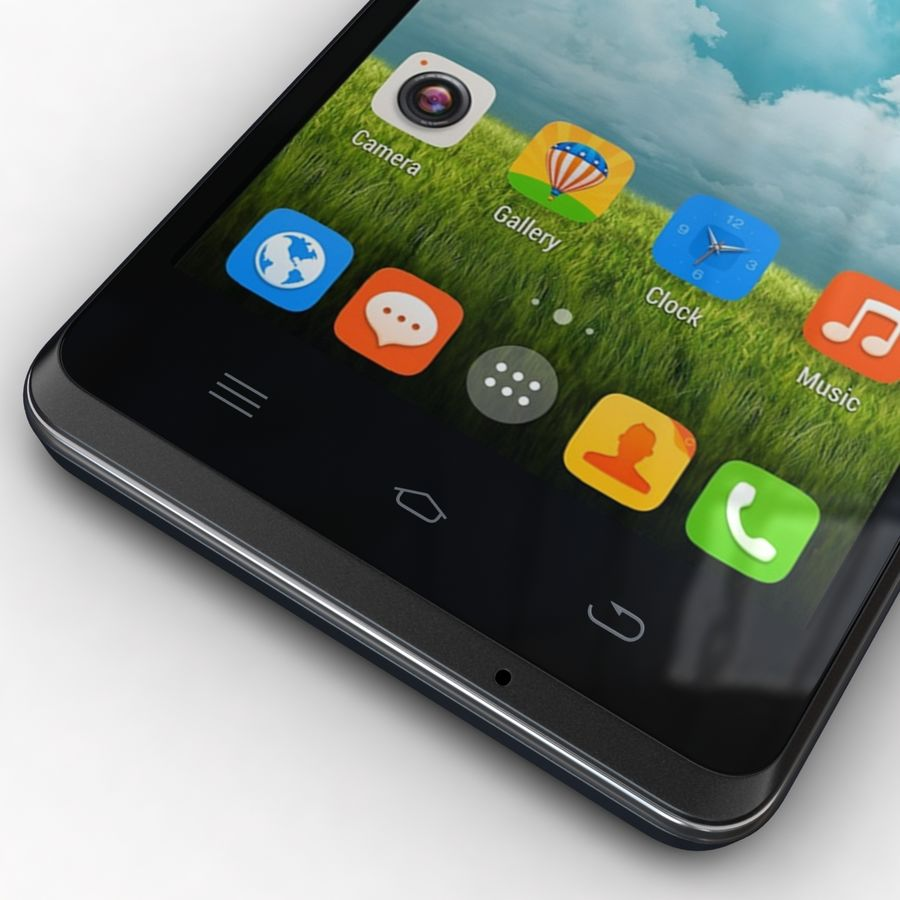 THL 5000 Smart Phone royalty-free 3d model - Preview no. 9