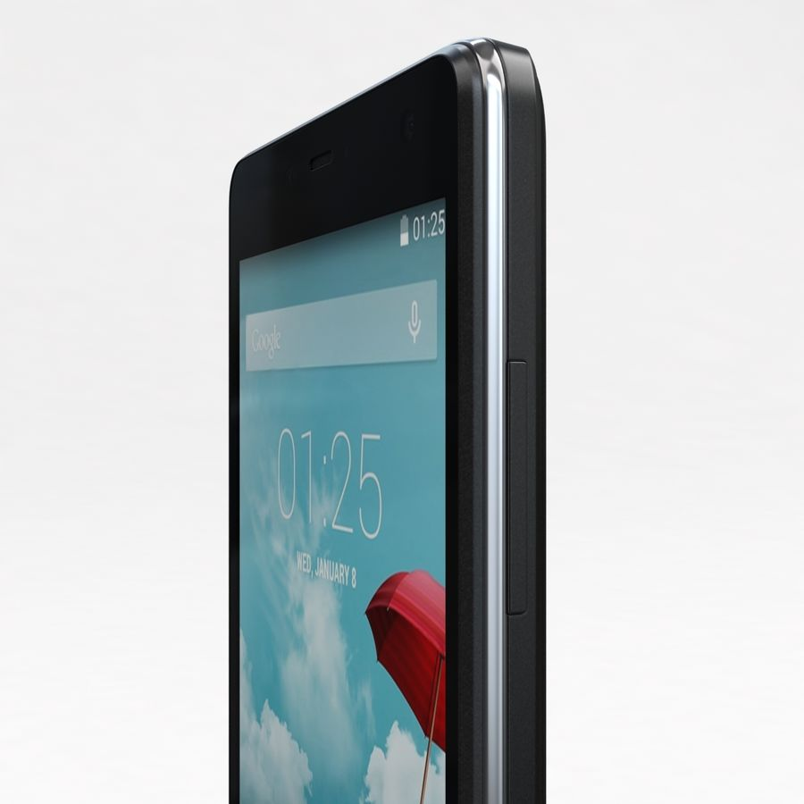 THL 5000 Smart Phone royalty-free 3d model - Preview no. 19