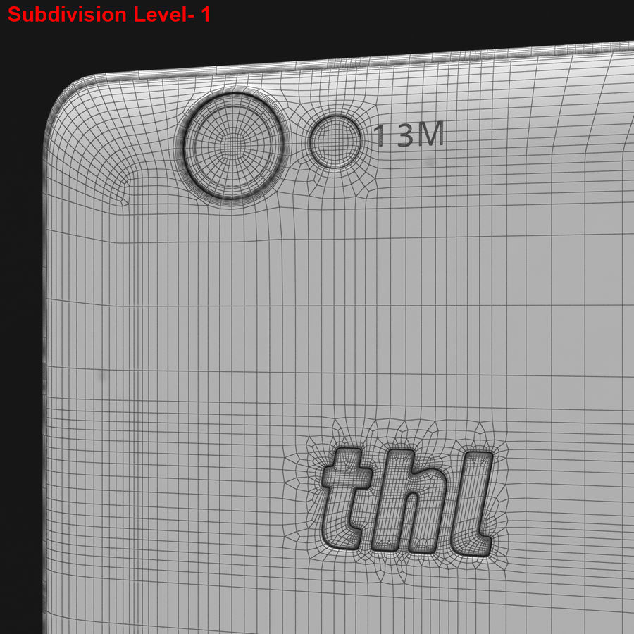 THL 5000 Smart Phone royalty-free 3d model - Preview no. 30