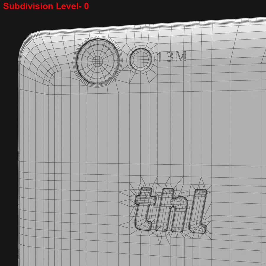 THL 5000 Smart Phone royalty-free 3d model - Preview no. 31