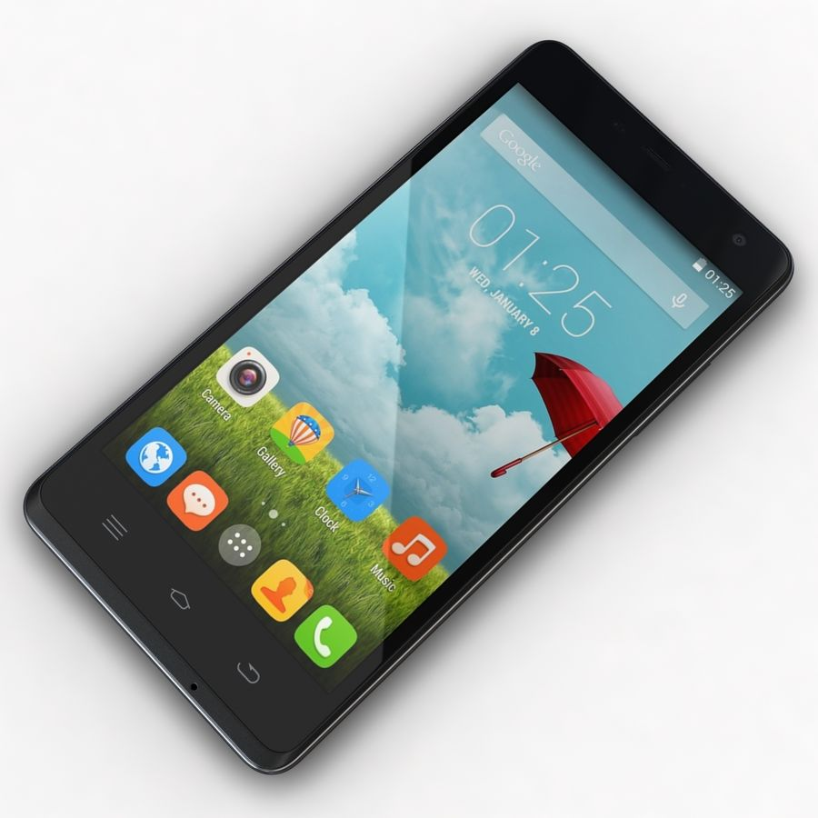 THL 5000 Smart Phone royalty-free 3d model - Preview no. 7