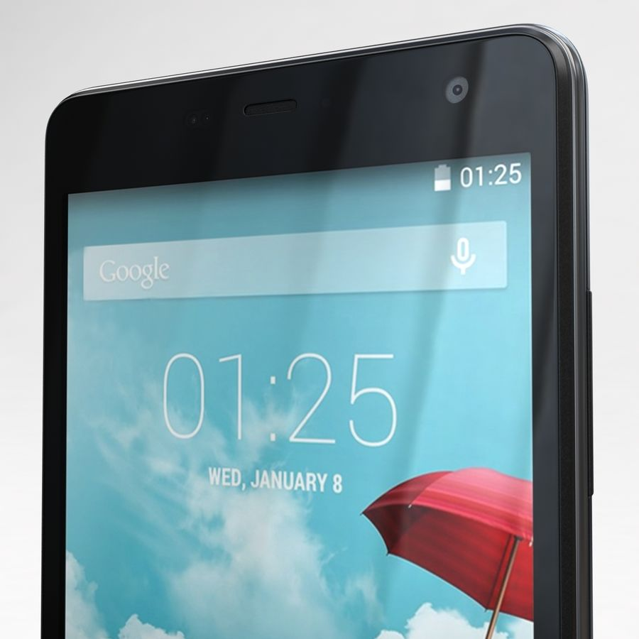 THL 5000 Smart Phone royalty-free 3d model - Preview no. 25